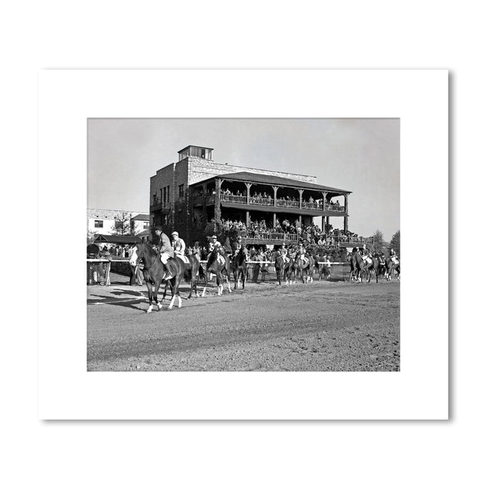 1940 Post Parade Clubhouse Matted Print