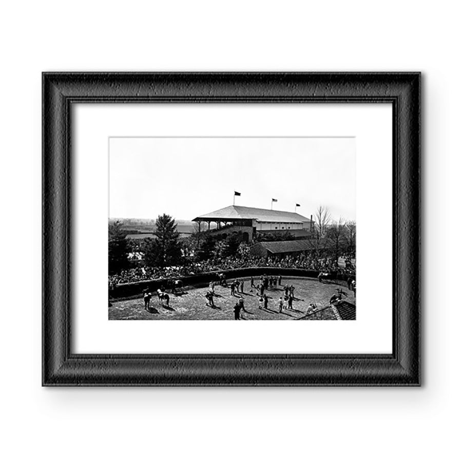 1950 Spring Meet Paddock View Matted Print