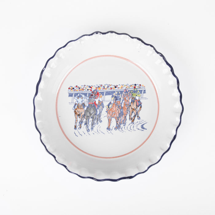 Stoneware & Co. Keeneland First Turn Pie Plate