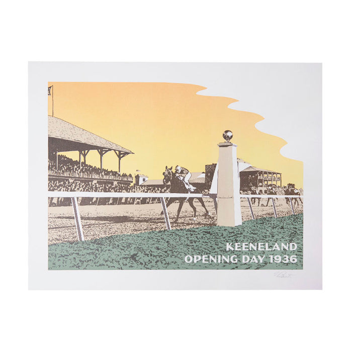Keeneland Opening Day 1936 Scene Print