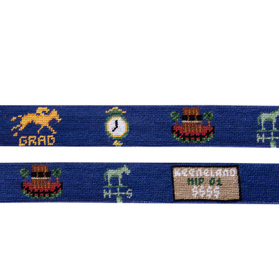 Smathers & Branson Keeneland Auction Life Needlepoint Belt