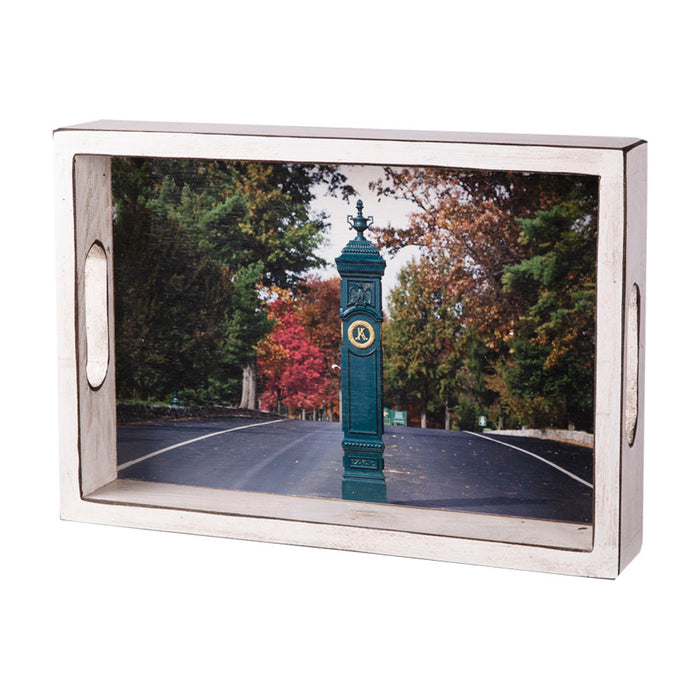 Keeneland Gatepost Wooden Serving Tray