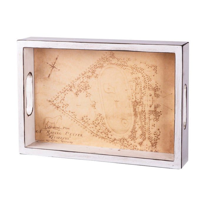 Keeneland Race Course Map Wooden Serving Tray