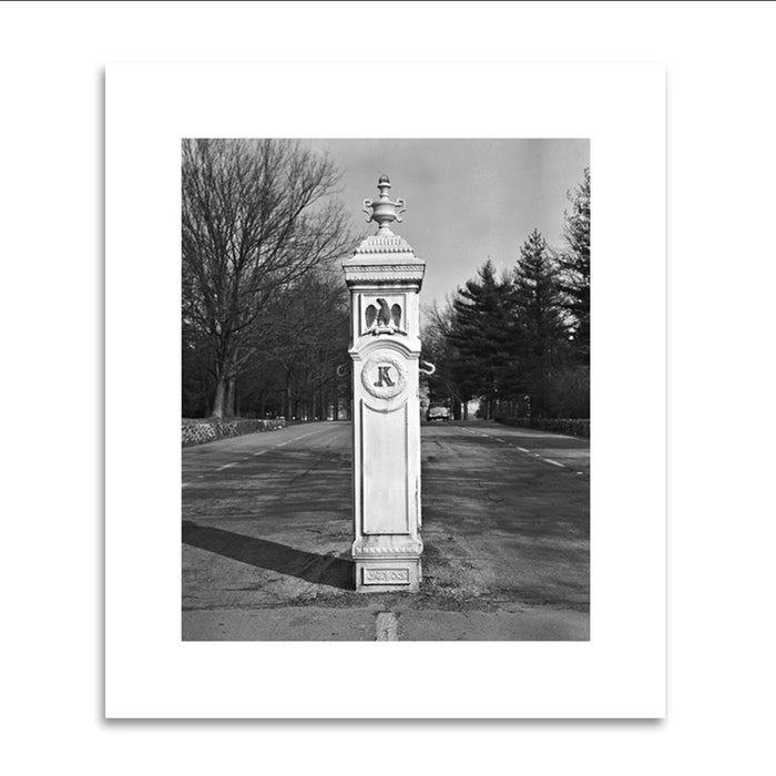 1962 Gatepost Entrance Matted Print