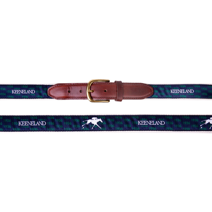 Keeneland Men's 1936 Navy Ribbon Belt