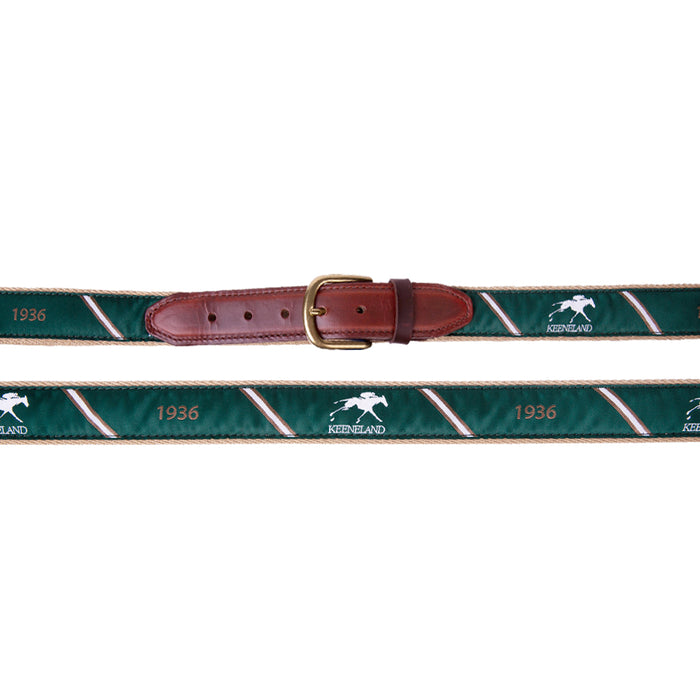 Keeneland Men's Stripe 1936 Ribbon Belt
