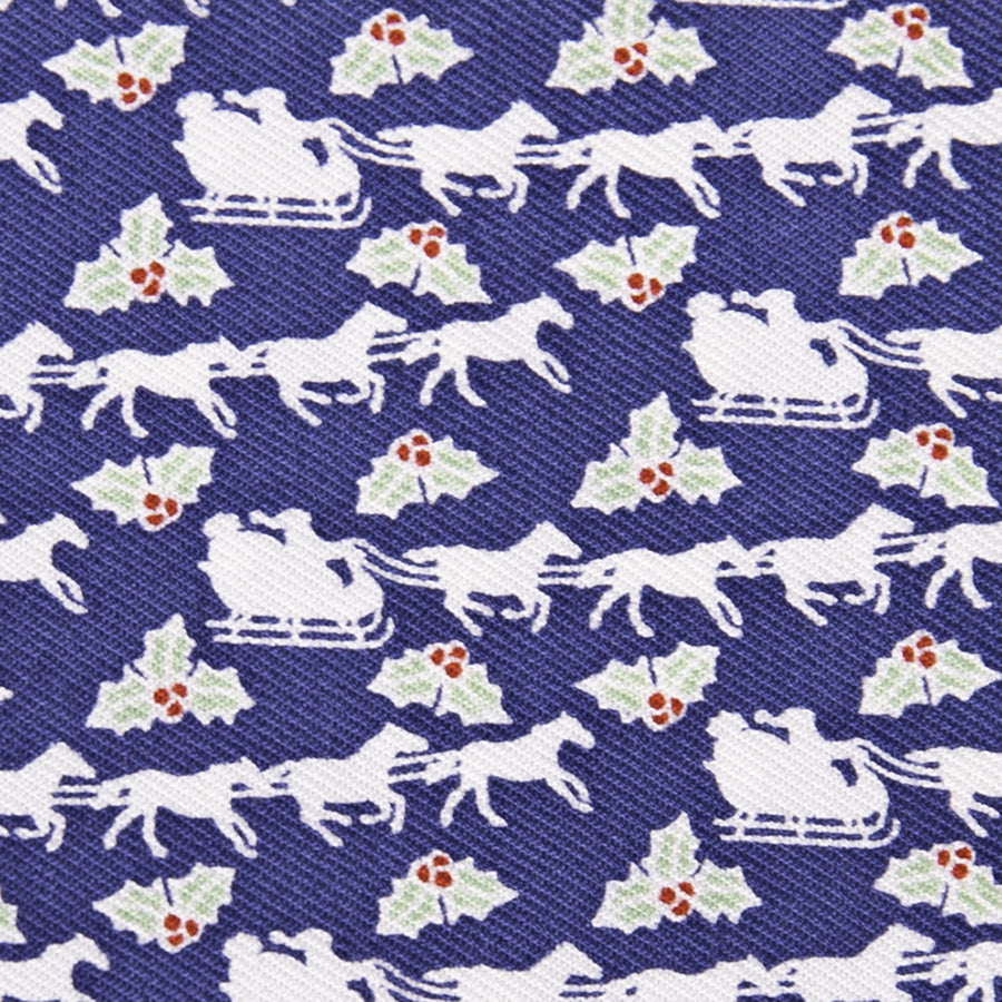 Vineyard Vines Keeneland Holiday Santa Sleigh Joey Scarf