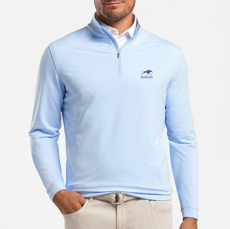 Peter Millar Keeneland Men's Mini-Stripe Perth 1/4 Zip