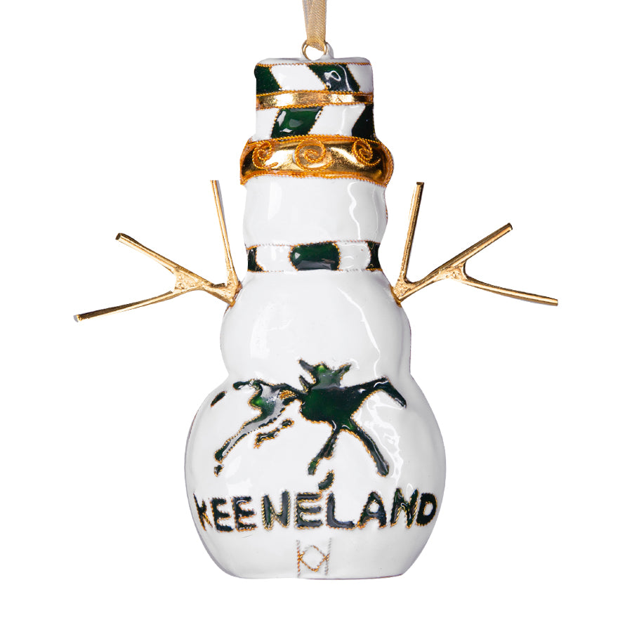 Kitty Keller Keeneland Snowman Ornament