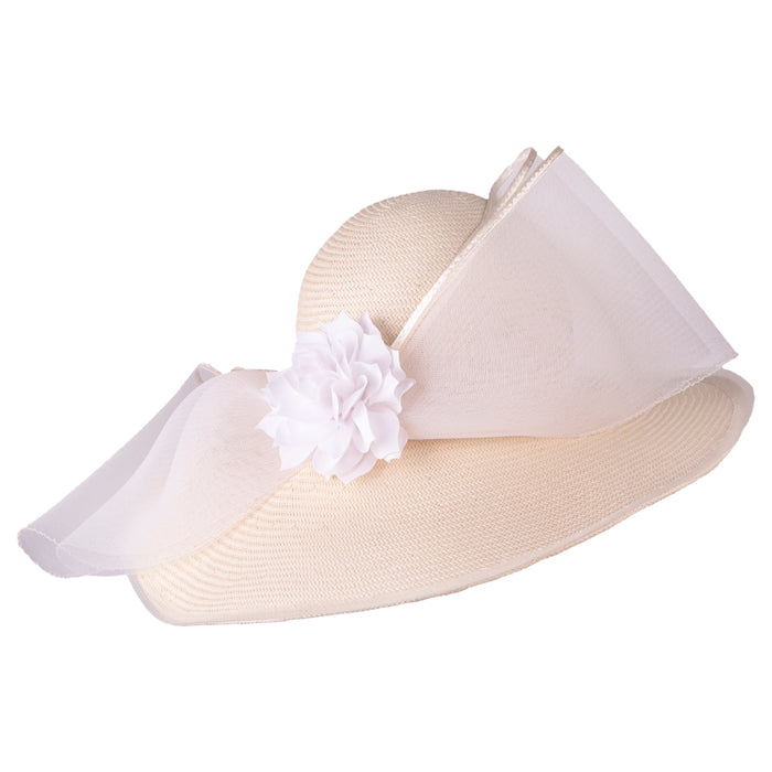 Formé for Keeneland Cotton Toyo Straw Hat