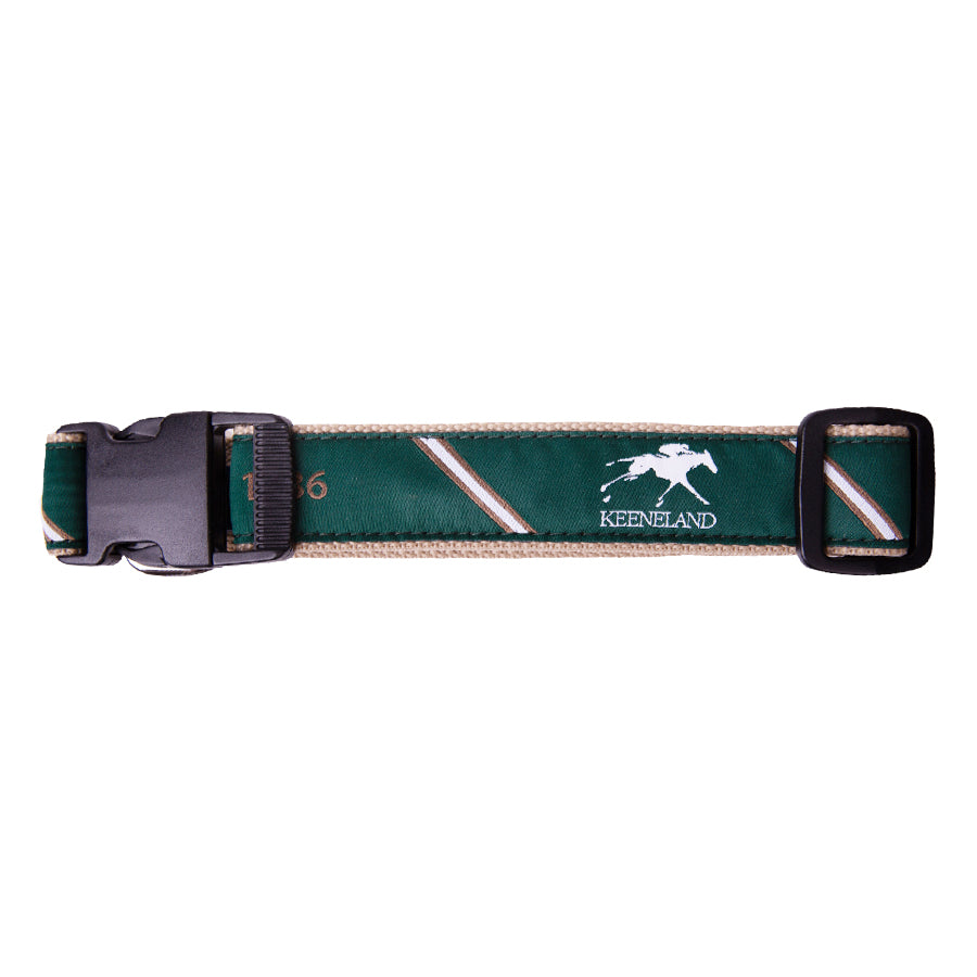 Keeneland Stripe 1936 Ribbon Dog Collar