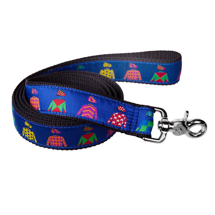 Keeneland Jockey Silk Ribbon Dog Leash