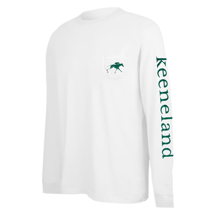 Vineyard Vines Keeneland Racing Long Sleeve Pocket Tee