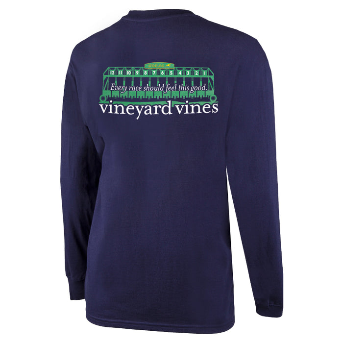 Vineyard Vines Keeneland Starting Gate Long Sleeve Pocket Tee
