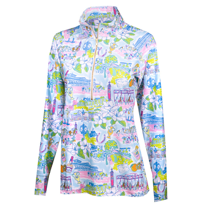 Kaeli Smith Keeneland Life Pullover in Multicolor
