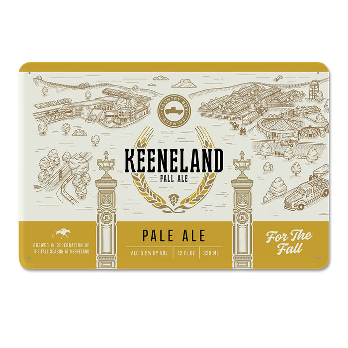 Keeneland Fall Ale Tin Sign