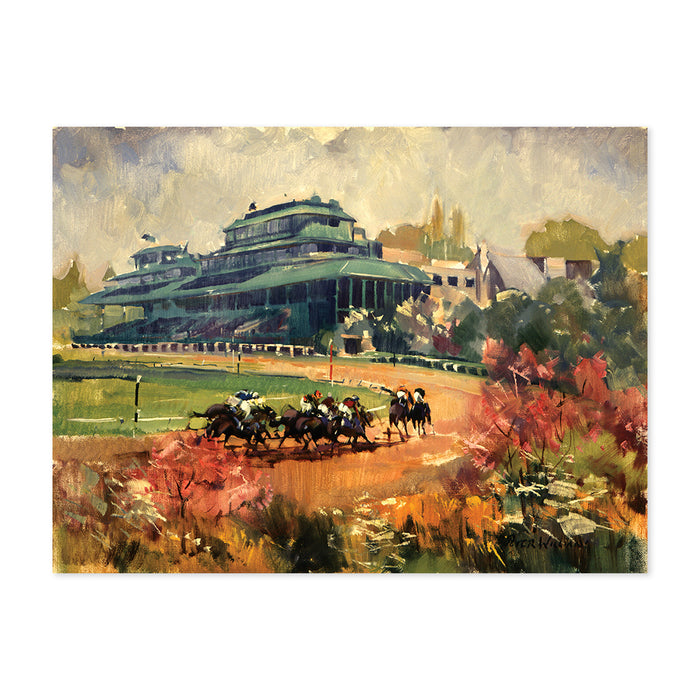 Peter Williams Keeneland Final Turn Print