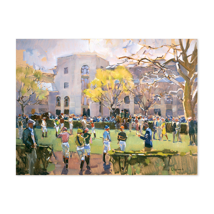 Peter Williams Keeneland Waiting For Their Mounts Print