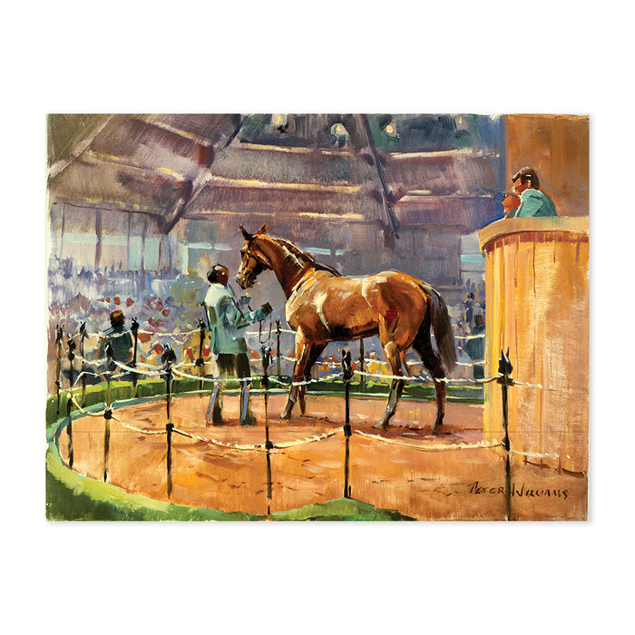 Peter Williams Keeneland Sales Ring Print
