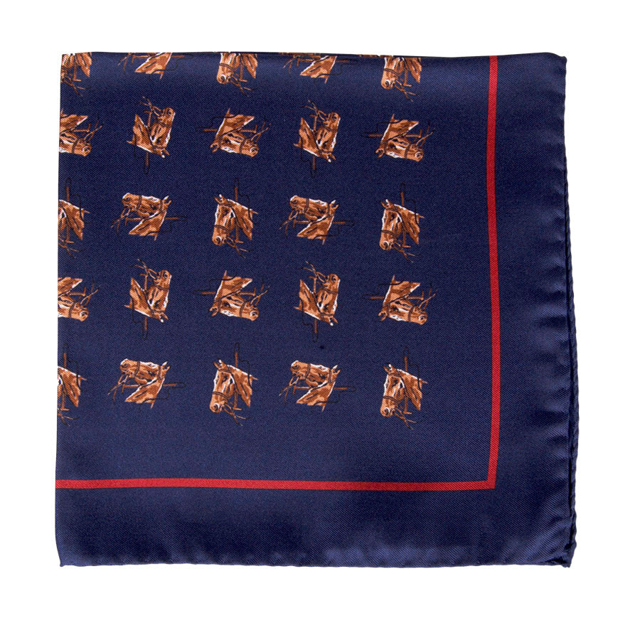 Horsehead All Over Pocket Square