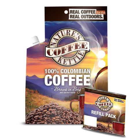 100% Colombian Nature's Coffee Kettle with (1) Colombian Refills
