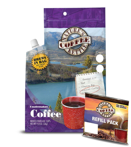 Nature's Coffee Kettle Guatemalan with (1) Guatemalan Refill Pack