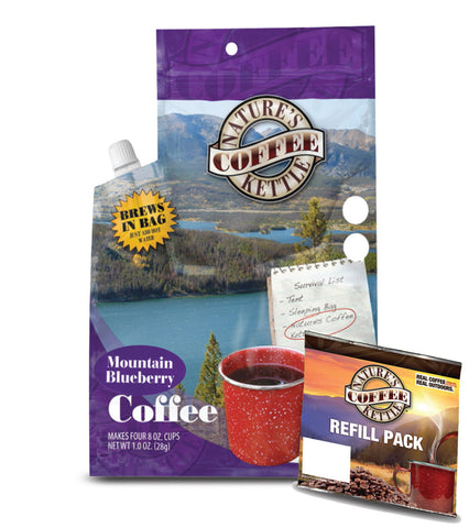 Nature's Coffee Kettle Brazilian Mountain Blueberry with (1) Mountain Blueberry Refill Pack