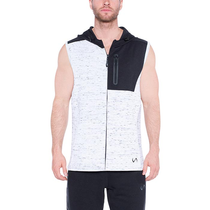 TLF Tech Sleeveless Hoodie White | Bulu Box - sample superior vitamins and supplements
