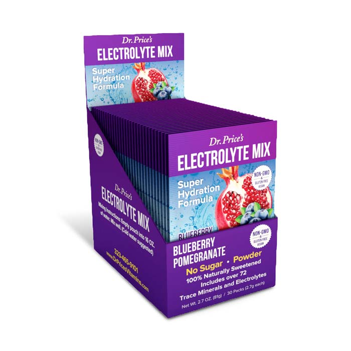 Dr. Price's Vitamins Electrolyte Mix - Blueberry Pomegranate | Bulu Box Samples Superior Vitamins, Supplements and Healthy Snacks