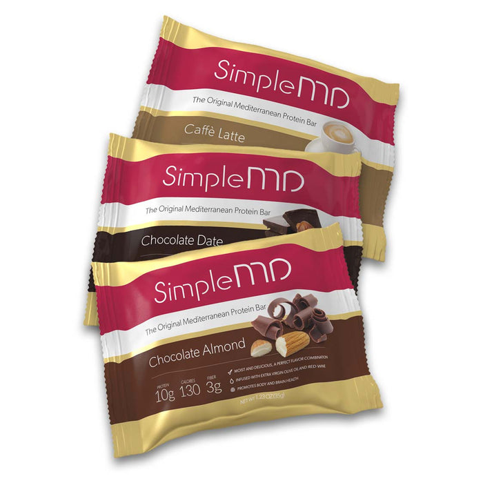 SimpleMD Mediterranean Protein Bar | Bulu Box Superior Supplements, Vitamins, and Healthy Snacks