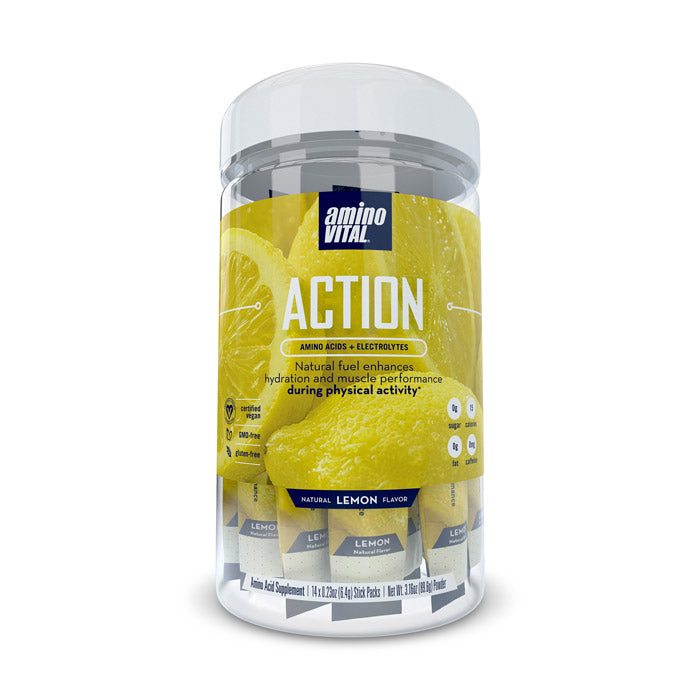 Amino Vital ACTION - Lemon | Bulu Box Superior Supplements, Vitamins, and Healthy Snacks