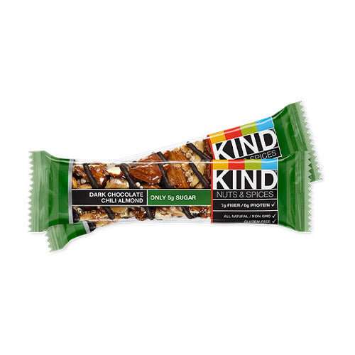 Kind Nuts & Spices Bar Dark Chocolate Chili Almond | Bulu Box - sample superior vitamins and supplements