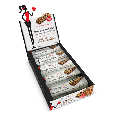 Skinnygirl On the Go Bars Dark Chocolate Multi Grain Pretzel Box 12 Bars | Bulu Box - sample superior vitamins and supplements