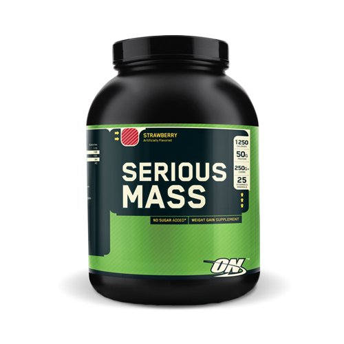 Serious Mass Strawberry 6lb | Bulu Box - Sample Superior Vitamins and Supplements