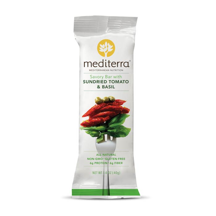 Mediterra Nutritional Bars Tomato Basil | Bulu Box - sample superior vitamins and supplements