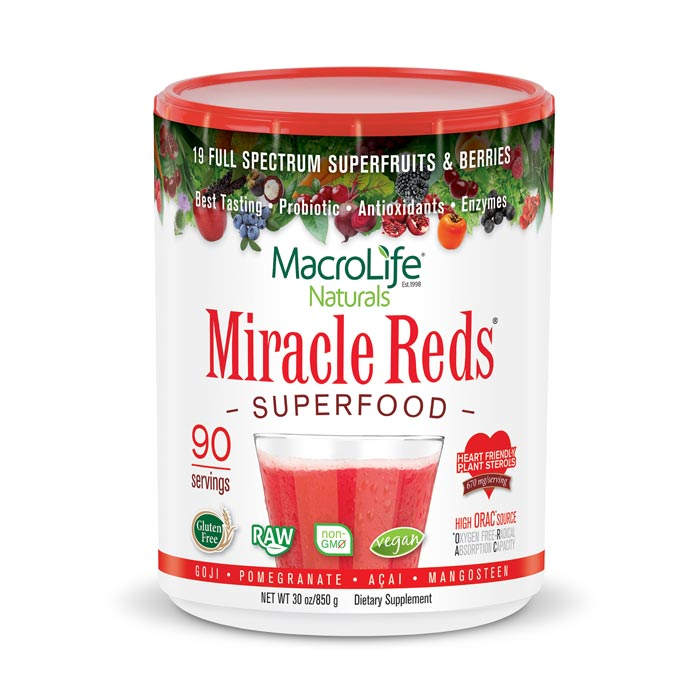 MacroLife Miracle Reds - 30oz | Bulu Box Superior Supplements, Vitamins, and Healthy Snacks