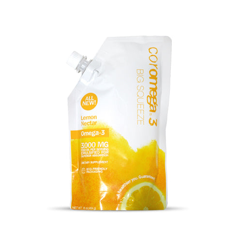 Coromega Big Squeeze Lemon Nectar | Bulu Box - sample superior vitamins and supplements