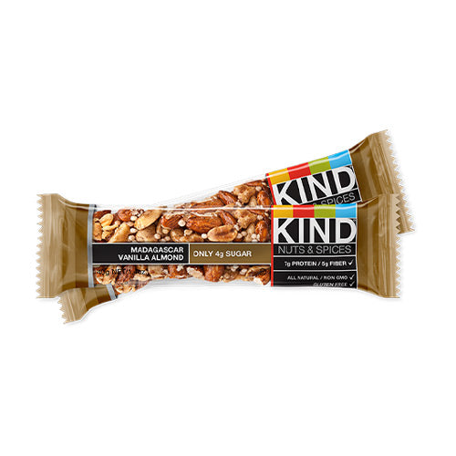 Kind Nuts & Spices Bar Madagascar Vanilla Almond | Bulu Box - sample superior vitamins and supplements