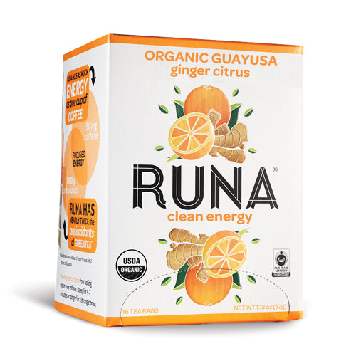 Runa Guayusa Tea Citrus Ginger | Bulu Box - sample superior vitamins and supplements