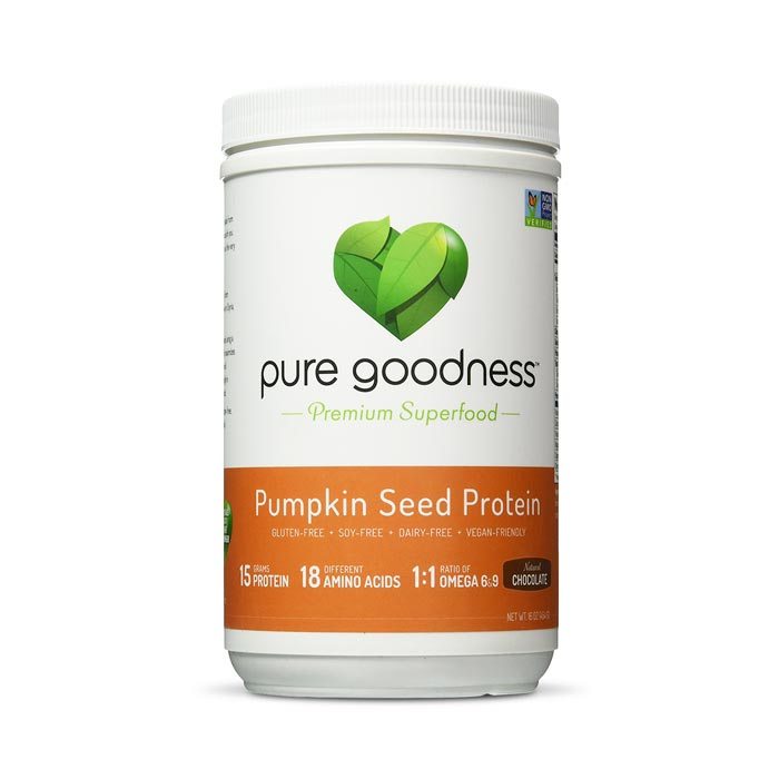 Pure Goodness Pumpkin Seed Protein - Natural Chocolate | Bulu Box Superior Supplements, Vitamins, and Healthy Snacks