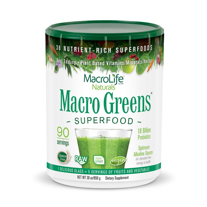 MacroLife Macro Greens - 30oz | Bulu Box Superior Supplements, Vitamins, and Healthy Snacks