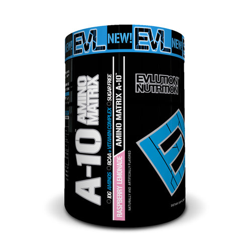 EVLUTION Nutrition A-10 Amino Matrix Raspberry Lemonade | Bulu Box - sample superior vitamins and supplements