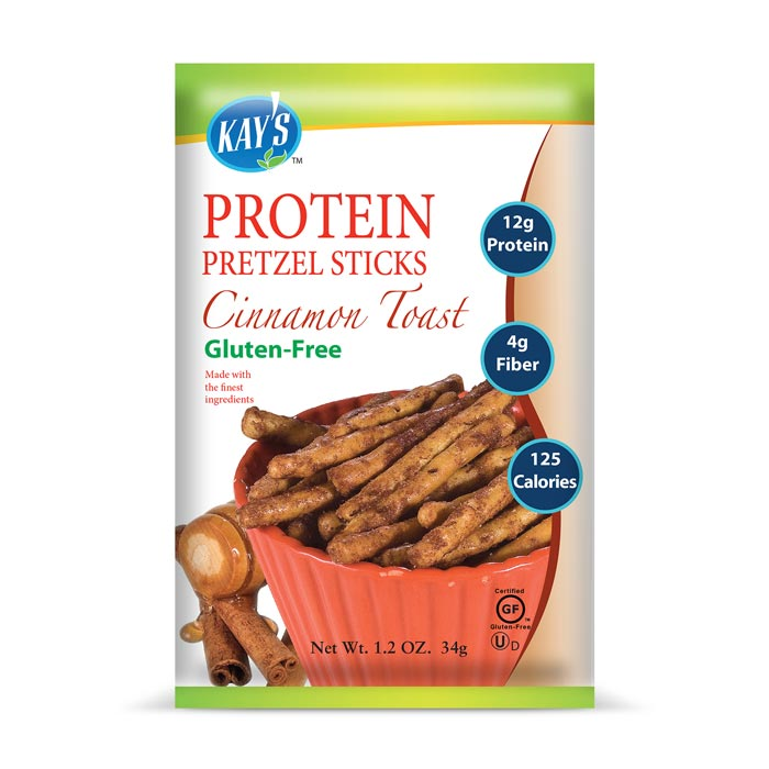 Kay's Naturals Gluten-Free Protein Pretzel Sticks Cinnamon Toast | Bulu Box - sample superior vitamins and supplements