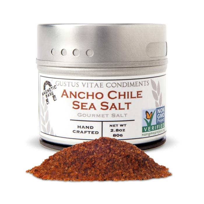 Gustus Vitae Ancho Chile Sea Salt| Bulu Box Superior Supplements, Vitamins, and Healthy Snacks