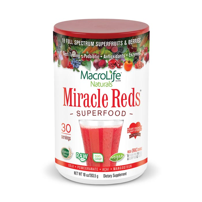 MacroLife Miracle Reds - 10oz | Bulu Box Superior Supplements, Vitamins, and Healthy Snacks
