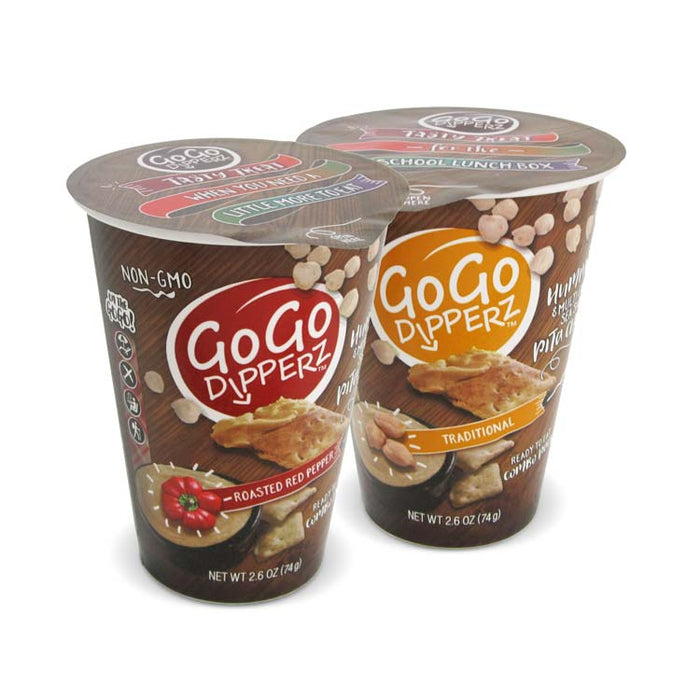Go Go Dipperz - Hummus and Pita Chips (Case of 6)