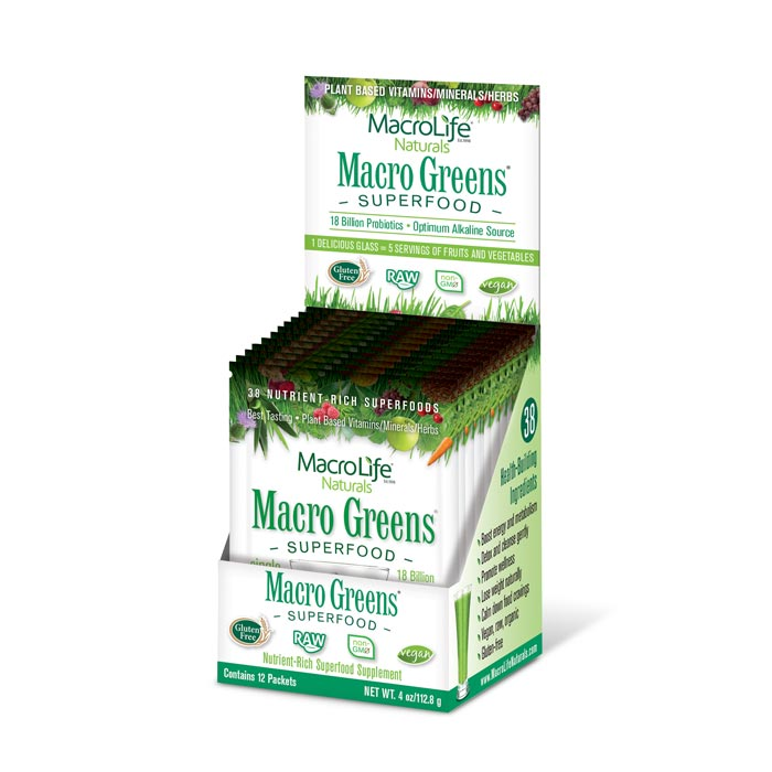 MacroLife Macro Greens - 12 packets | Bulu Box Superior Supplements, Vitamins, and Healthy Snacks