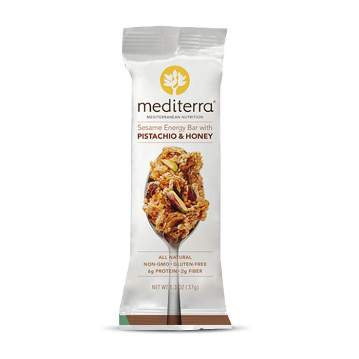 Mediterra Nutritional Bars Pistachio Honey | Bulu Box - sample superior vitamins and supplements