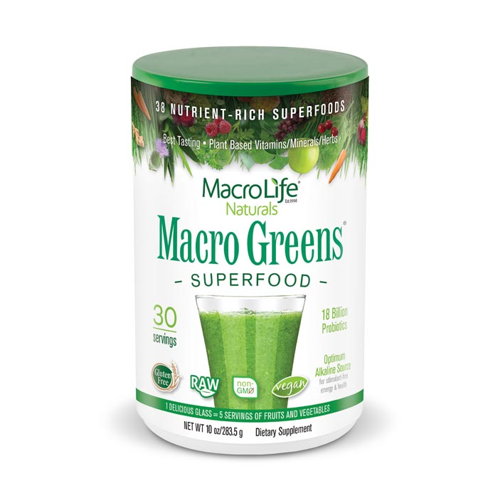 MacroLife Macro Greens - 10oz | Bulu Box Superior Supplements, Vitamins, and Healthy Snacks