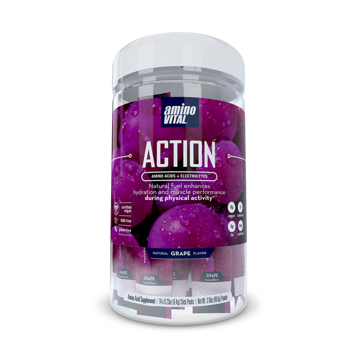 Amino Vital ACTION - Grape | Bulu Box Superior Supplements, Vitamins, and Healthy Snacks
